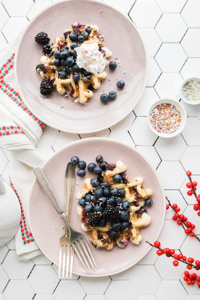 Vegan Fruit Waffle Recipe